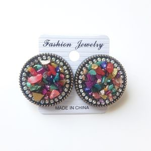 Fashion Jewelry Fancy Stone Stud Earrings